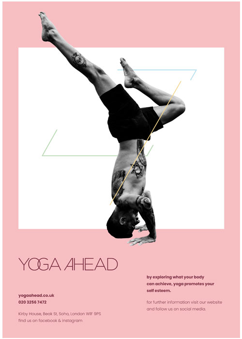 yoga-ahead-red-poster