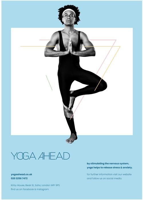 yoga-ahead-blue-poster