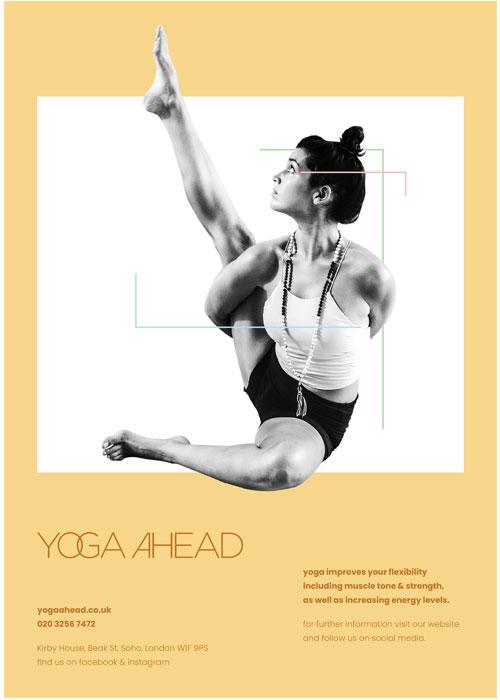 yoga-ahead-yellow-poster